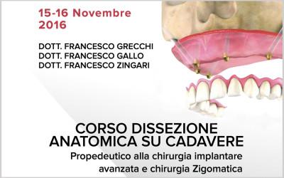 Corso dissezione anatomica su cadavere