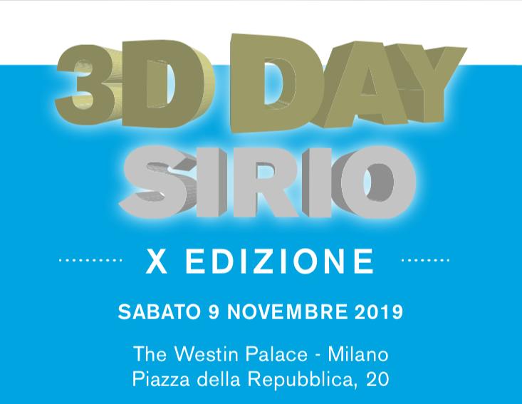 3D DAY SIRIO – X EDIZIONE